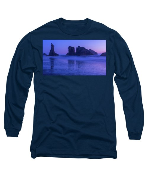 Seastack Sunset In Bandon Long Sleeve T-Shirt