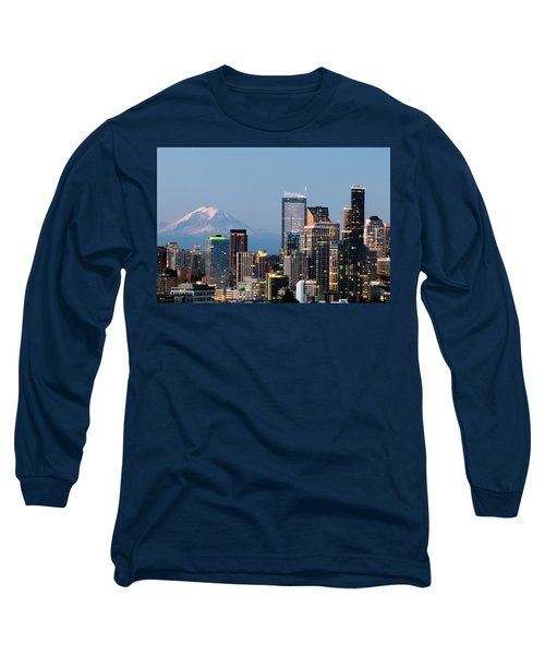 Long Sleeve T-Shirt featuring the photograph Seattle At First Light I by E Faithe Lester