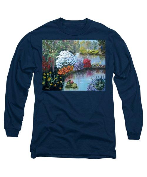 Secret Garden Long Sleeve T-Shirt by Phyllis Kaltenbach
