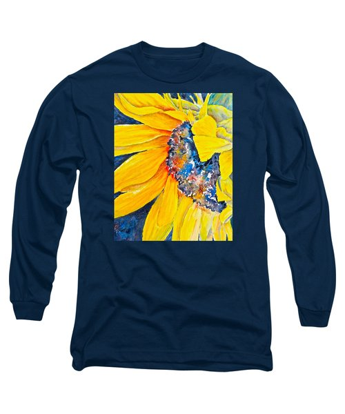 Long Sleeve T-Shirt featuring the painting September Sunflower by Carolyn Rosenberger