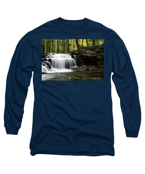 Serenity Waterfalls Landscape Long Sleeve T-Shirt