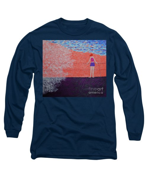 The Beach At Sunset Long Sleeve T-Shirt