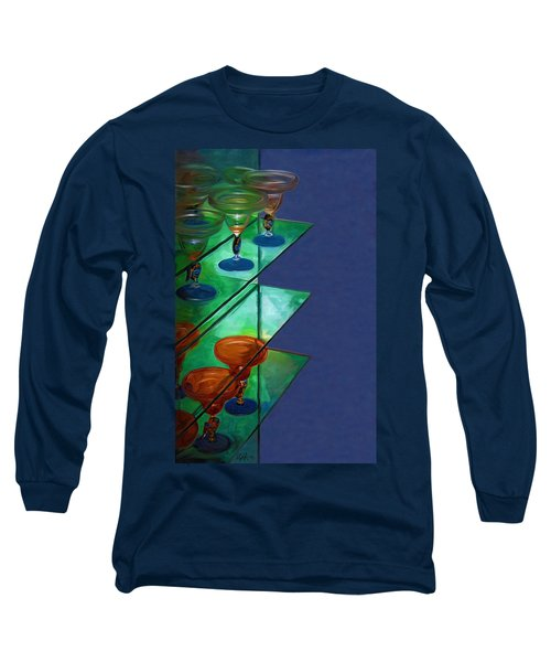 Long Sleeve T-Shirt featuring the digital art Sheilas Margaritas by Holly Ethan