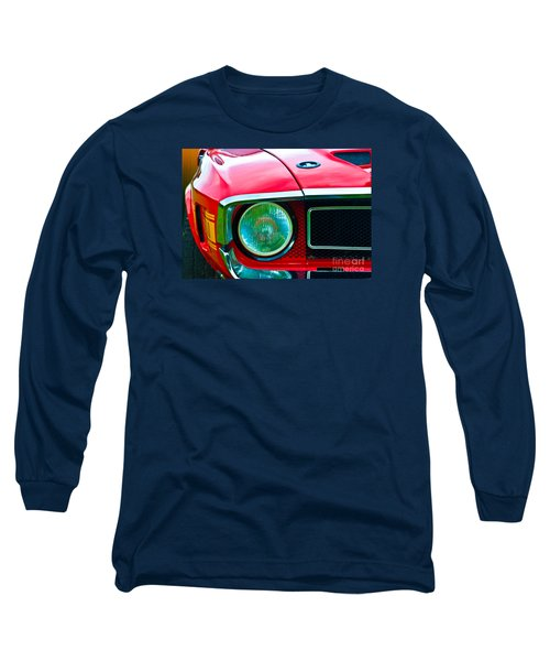 Red Shelby Mustang Long Sleeve T-Shirt