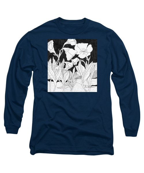 Long Sleeve T-Shirt featuring the painting Shooting The Breeze by Lou Belcher