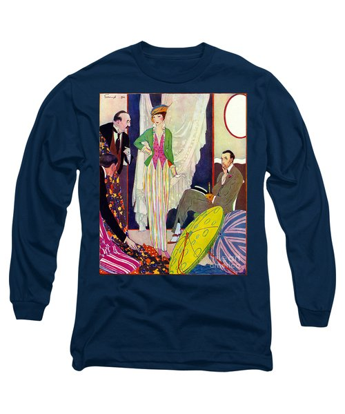 Long Sleeve T-Shirt featuring the photograph Shopping 1914 by Padre Art