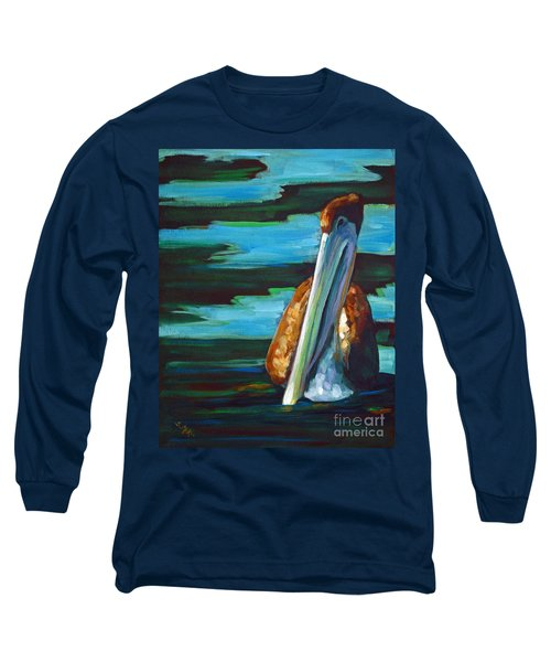 Long Sleeve T-Shirt featuring the painting Shy Brownie by Suzanne McKee