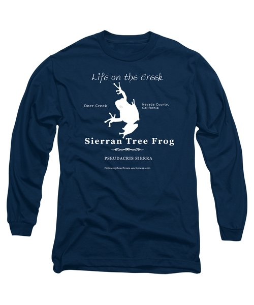 Sierran Tree Frog - White Graphic, White Text Long Sleeve T-Shirt