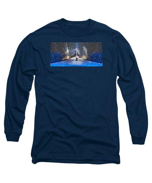 Silent Night  A Kiss From Paris And Back Long Sleeve T-Shirt by Glenn Feron