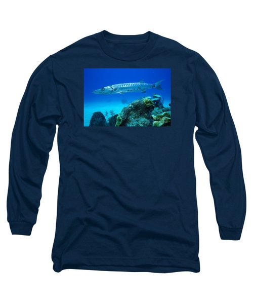 Silver Stalker Long Sleeve T-Shirt by Aaron Whittemore
