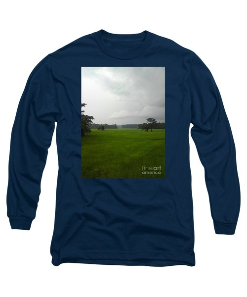 Long Sleeve T-Shirt featuring the photograph Simple Green by Rushan Ruzaick