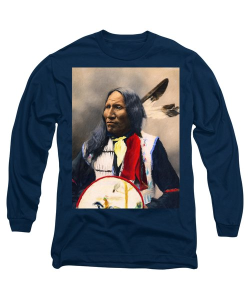 Sioux Chief Portrait Long Sleeve T-Shirt