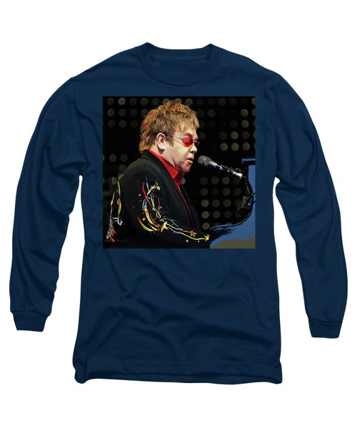 Sir Elton John At The Piano Long Sleeve T-Shirt