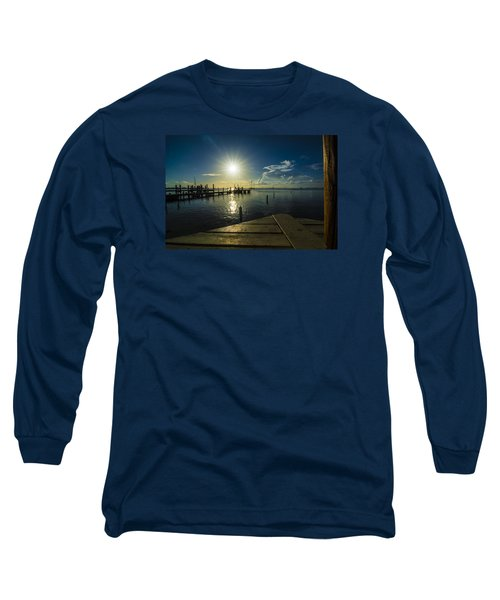Sitting On The Dock Of The Bay Long Sleeve T-Shirt by Kevin Cable