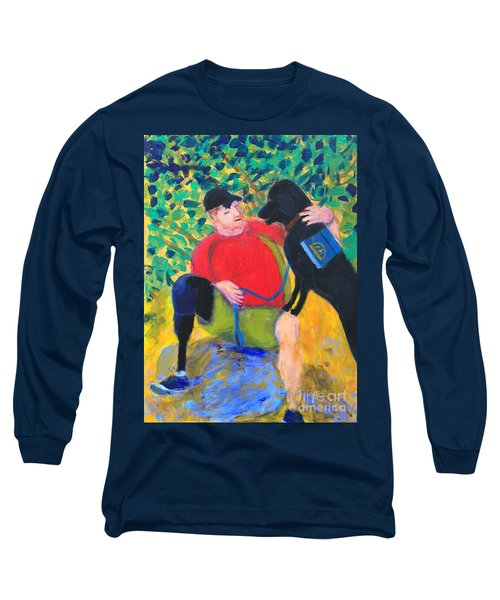 Long Sleeve T-Shirt featuring the painting One Team Two Heroes-4 by Donald J Ryker III