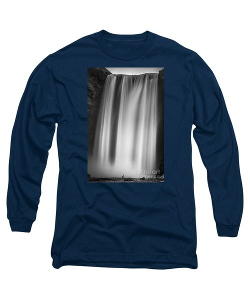 Skogarfoss Iceland Long Sleeve T-Shirt by Gunnar Orn Arnason
