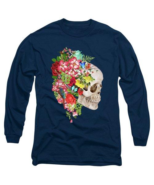 Skull Floral 2 Long Sleeve T-Shirt