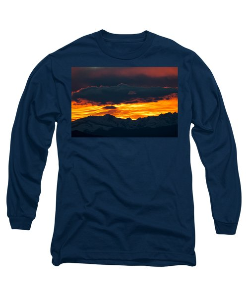 Long Sleeve T-Shirt featuring the photograph Sky Lava by Colleen Coccia