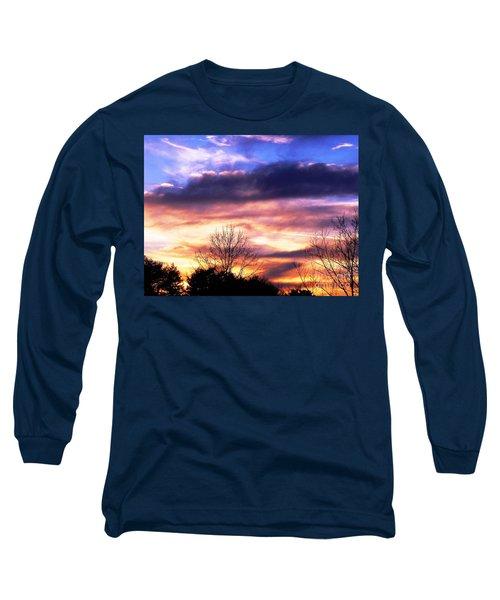 Sky Study 8 3/11/16 Long Sleeve T-Shirt by Melissa Stoudt