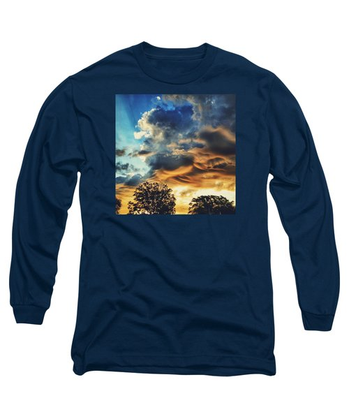 Long Sleeve T-Shirt featuring the photograph Sky Surf by Nikki McInnes