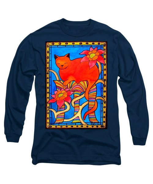 Long Sleeve T-Shirt featuring the painting Sleeping Beauty By Dora Hathazi Mendes by Dora Hathazi Mendes