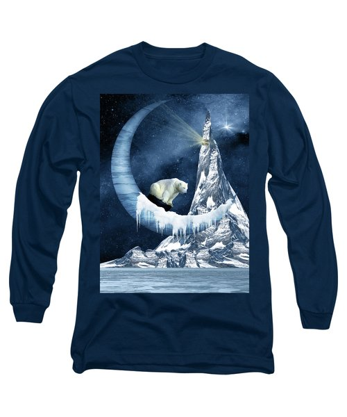 Sliding On The Moon Long Sleeve T-Shirt by Mihaela Pater