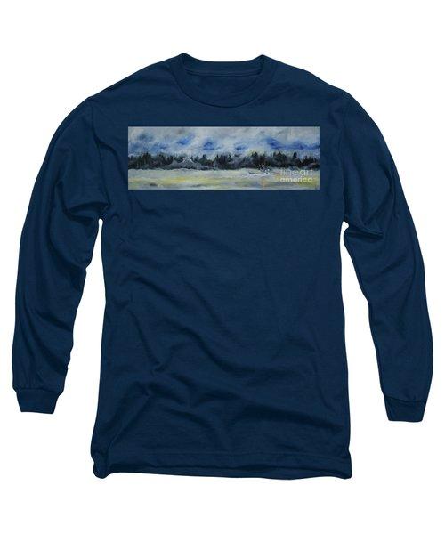 Slow Sail Home Long Sleeve T-Shirt by Cynthia Lagoudakis