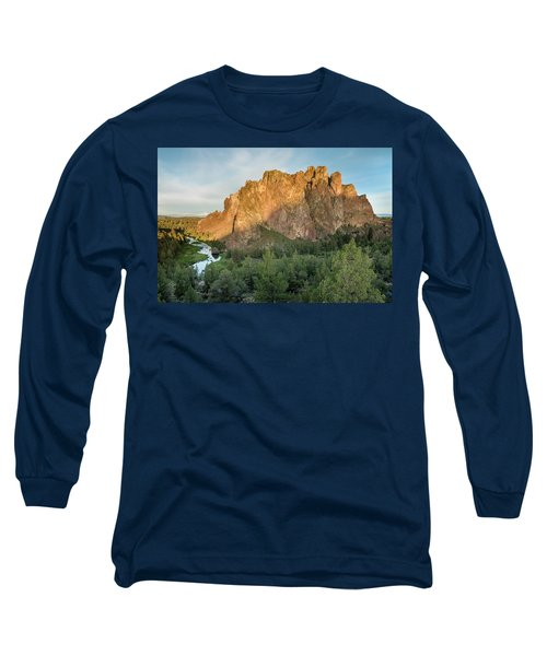 Long Sleeve T-Shirt featuring the photograph Smith Rock First Light by Greg Nyquist