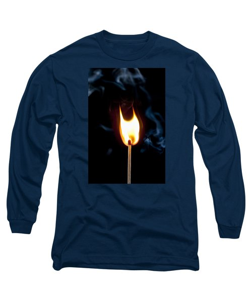 Long Sleeve T-Shirt featuring the photograph Smoke And Fire by Tyson and Kathy Smith