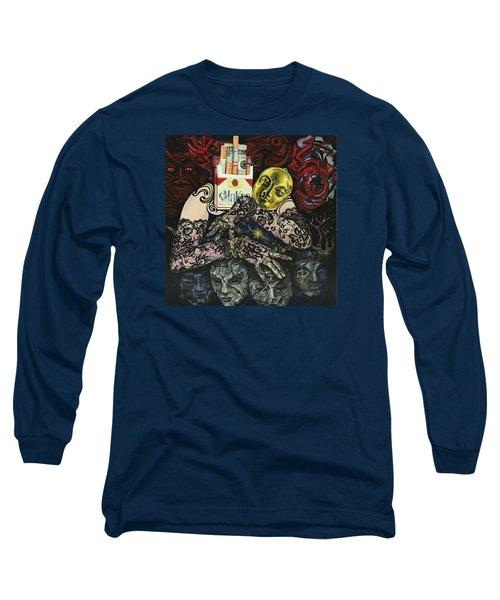 Smoke And Lace Long Sleeve T-Shirt by Yelena Tylkina