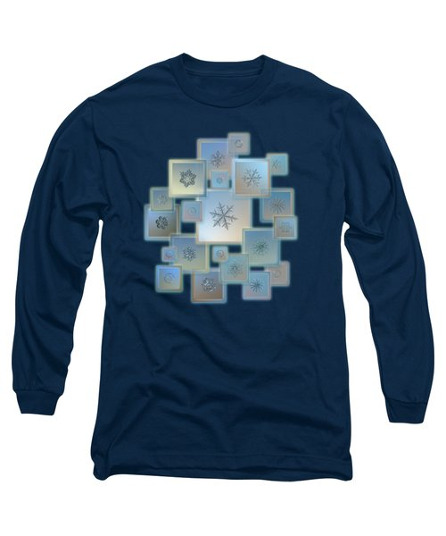 Long Sleeve T-Shirt featuring the photograph Snowflake Collage - Bright Crystals 2012-2014 by Alexey Kljatov