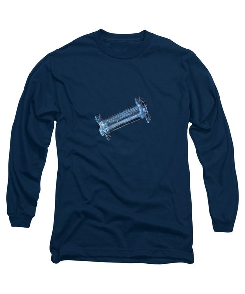 Long Sleeve T-Shirt featuring the photograph Snowflake Photo - Capped Column by Alexey Kljatov