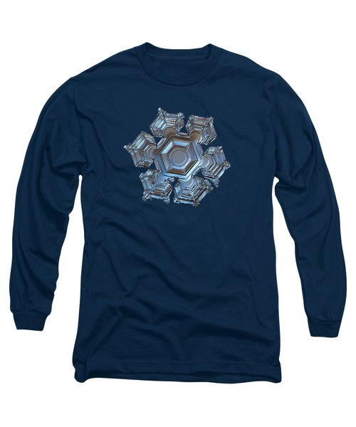 Snowflake Photo - Cold Metal Long Sleeve T-Shirt