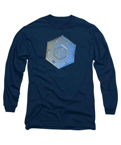 Long Sleeve T-Shirt featuring the photograph Snowflake Photo - Cryogenia by Alexey Kljatov