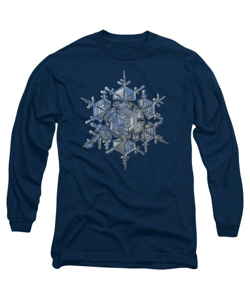 Long Sleeve T-Shirt featuring the photograph Snowflake Photo - Crystal Of Chaos And Order by Alexey Kljatov