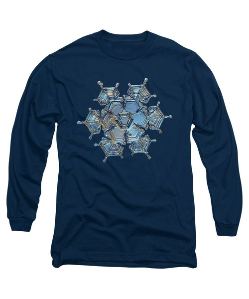 Long Sleeve T-Shirt featuring the photograph Snowflake Photo - Flying Castle by Alexey Kljatov