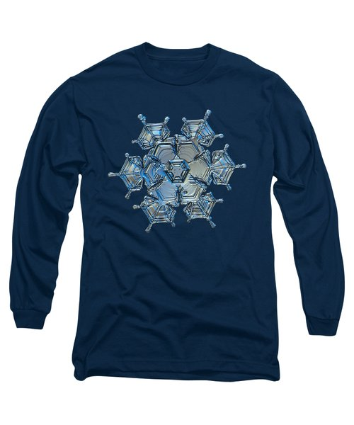 Long Sleeve T-Shirt featuring the photograph Snowflake Photo - Flying Castle Alternate by Alexey Kljatov