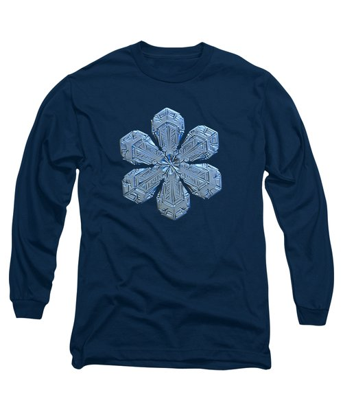 Long Sleeve T-Shirt featuring the photograph Snowflake Photo - Forget-me-not by Alexey Kljatov