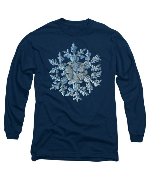 Long Sleeve T-Shirt featuring the photograph Snowflake Photo - Gardener's Dream by Alexey Kljatov