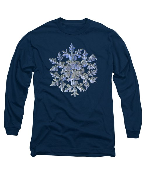 Long Sleeve T-Shirt featuring the photograph Snowflake Photo - Gardener's Dream Alternate by Alexey Kljatov