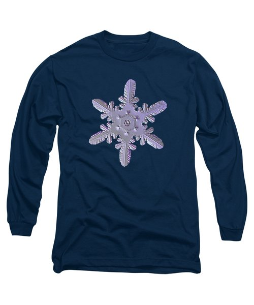 Long Sleeve T-Shirt featuring the photograph Snowflake Photo - Heart-powered Star by Alexey Kljatov