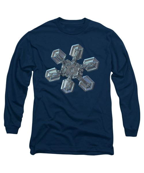 Long Sleeve T-Shirt featuring the photograph Snowflake Photo - High Voltage by Alexey Kljatov