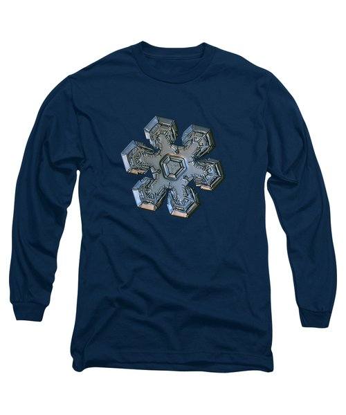 Long Sleeve T-Shirt featuring the photograph Snowflake Photo - Massive Silver by Alexey Kljatov