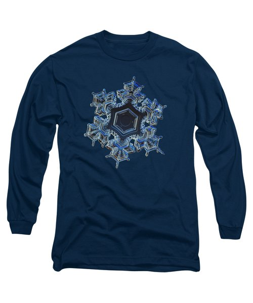 Long Sleeve T-Shirt featuring the photograph Snowflake Photo - Spark by Alexey Kljatov