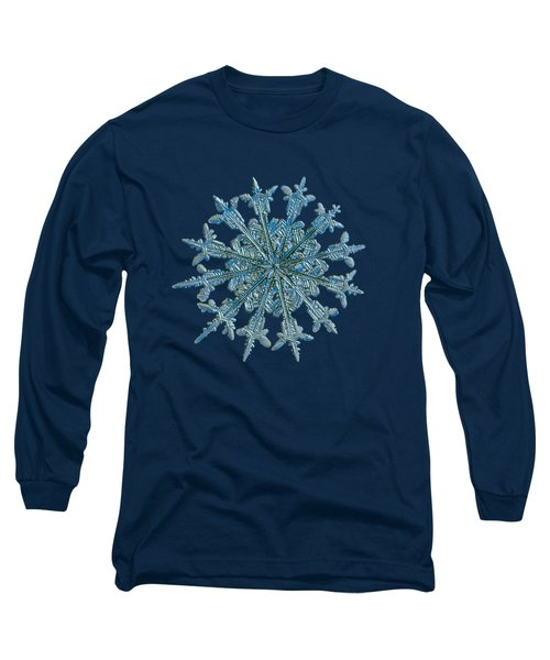 Long Sleeve T-Shirt featuring the photograph Snowflake Photo - Twelve Months by Alexey Kljatov