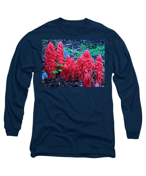 Snowflower Pow Wow Long Sleeve T-Shirt by Sean Sarsfield
