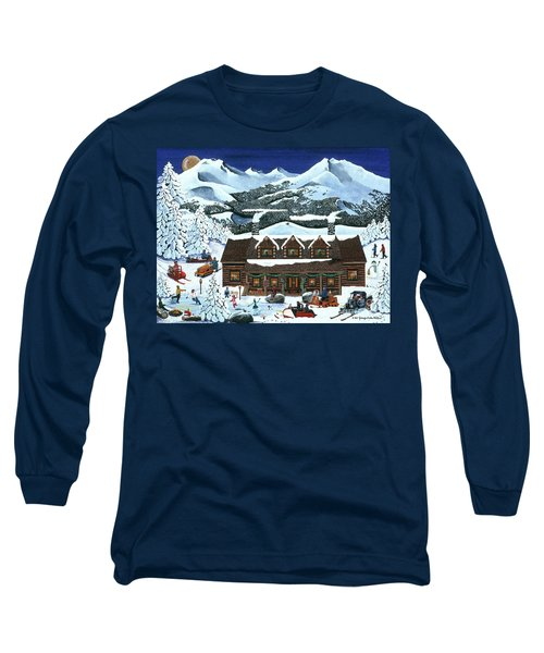 Snowmobile Holiday Long Sleeve T-Shirt