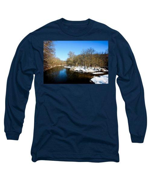 Snowy Creek Morning Long Sleeve T-Shirt
