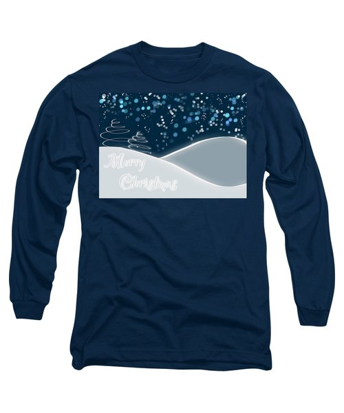 Snowy Night Christmas Card Long Sleeve T-Shirt