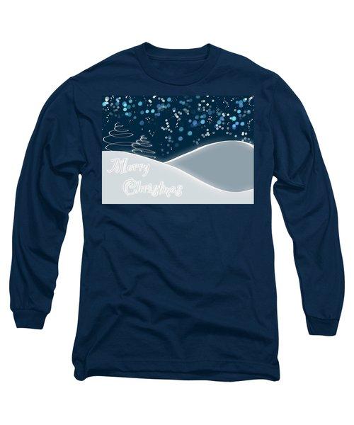 Snowy Night Christmas Card Long Sleeve T-Shirt
